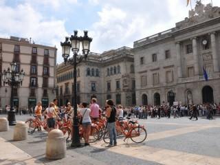 Geniet van een fietstour met gids door Barcelona