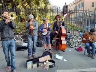 Royal Frenchmen buskers New Orleans